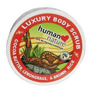 Human Nature Body Scrub in Lemongrass
