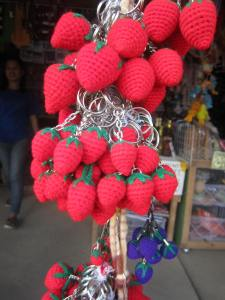 Strawberry keychains
